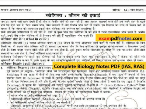 Download Biology PDF Notes, Biology Notes Class
