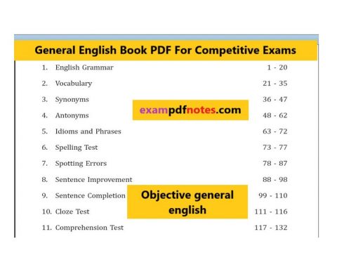 English Grammar Book PDF For Competitive Exams