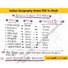 Indian Geography Notes PDF in Hindi physical geography notes pdf