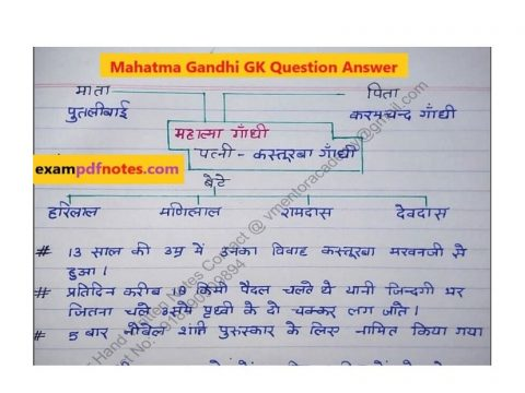 Mahatma Gandhi GK Question Answer