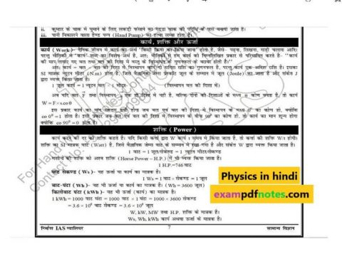 Physics notes in Hindi PDF Download