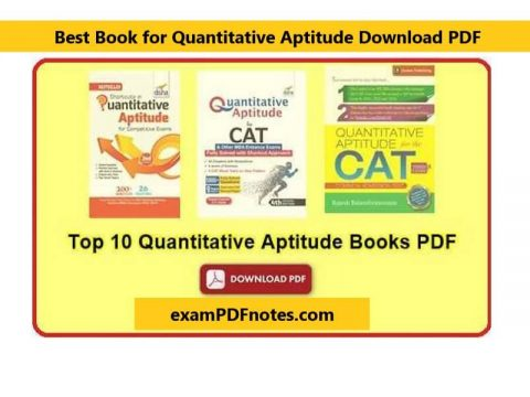 Best Book for Quantitative Aptitude Download PDF in Hindi and English