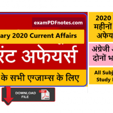 Current Affairs February 2020 PDF in Hindi and English Download