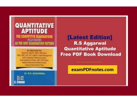 RS Aggarwal Quantitative Aptitude PDF Download in Hindi and English