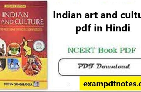 Indian art and culture pdf in Hindi