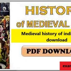 Medieval history of india pdf free download