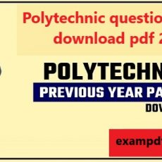 Polytechnic question papers download pdf 2021