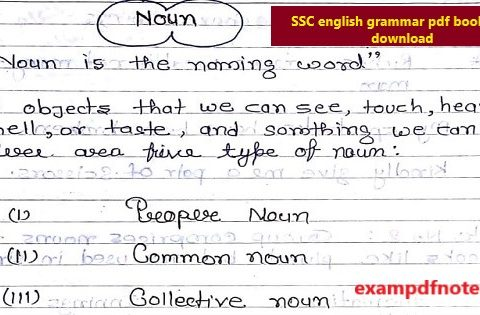 SSC english grammar pdf book free download