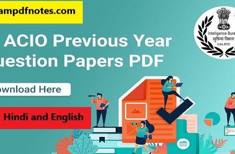 IB ACIO previous paper book free pdf download