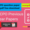 SSC CPO question paper 2019 pdf free download