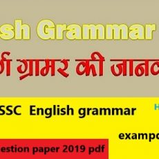 SSC English question paper 2019 pdf free download