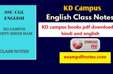 KD campus books pdf download in hindi and english