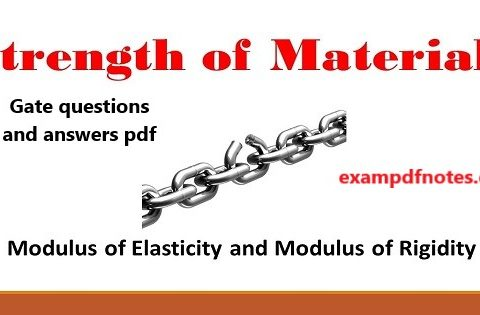 Strength of materials gate questions and answers pdf